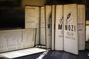 Mozi – nápojový lístok