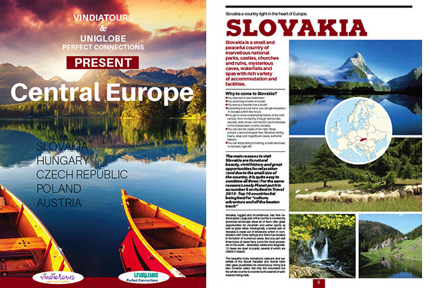 Central Europe katalóg do Indie